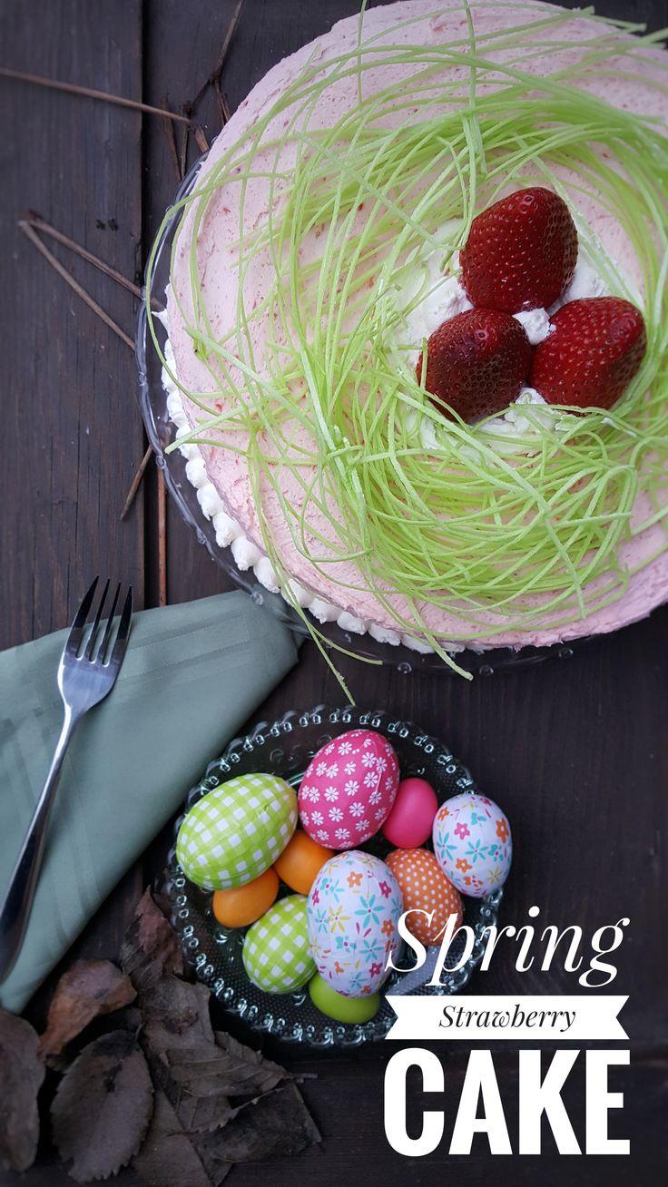 Spring Strawberry Cake