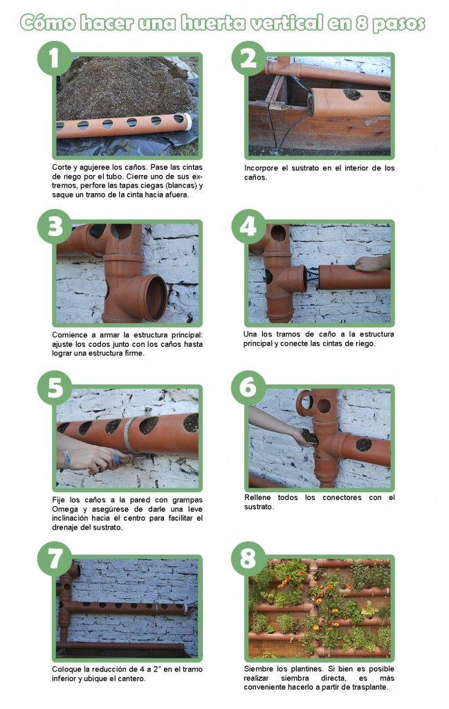 Cómo hacer una huerta vertical en ocho pasos