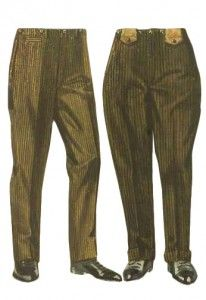 1920s Mens Pants: Oxford Bags, Plus Four Knickers, Overalls
