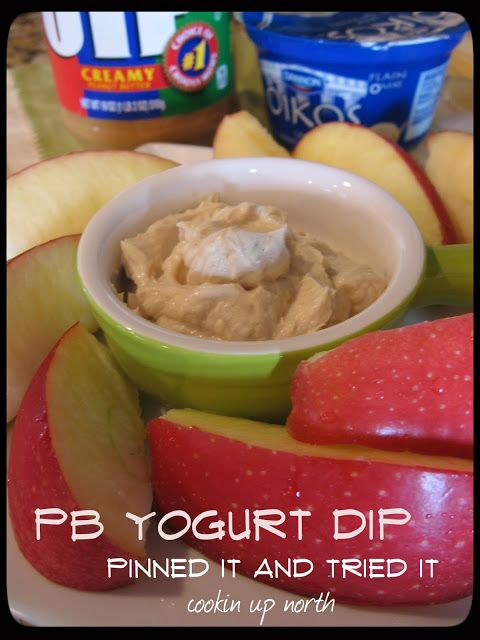 PB Yogurt dip - great with fruit cookin' up north: low fat recipes