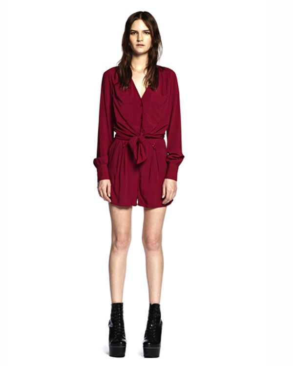 Something Else Front Tie Blouse - All Tops - Clothing - Birdmotel Online Store