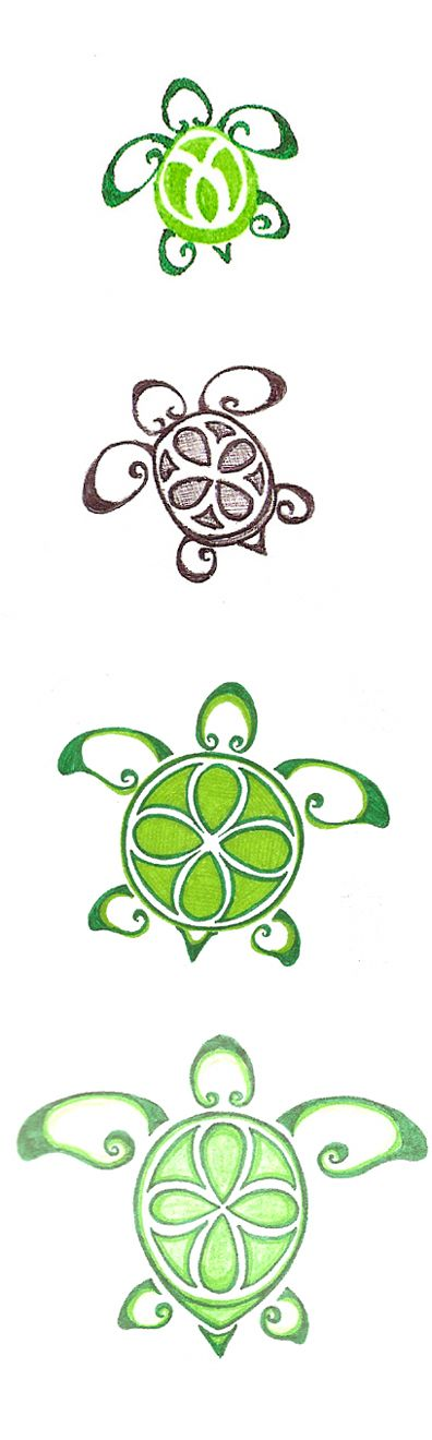 SEA TURTLE - cute pattern for rock painting.