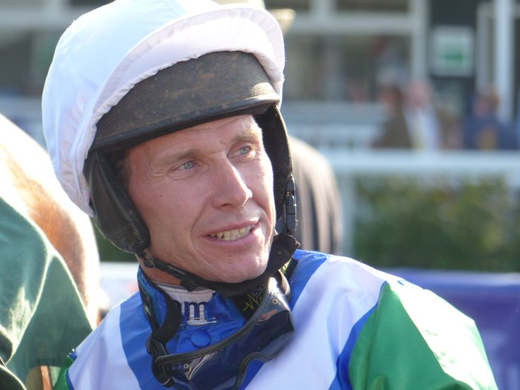 Champion jockey Richard Johnson in the Winner's Enclosure at Uttoxeter Racecourse at the 2015 Ladies Night in Staffordshire.  http://www.uttoxeter-racecourse.co.uk
