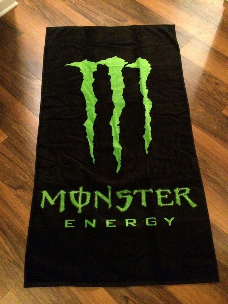 Rare: Monster Energy Beach Towel