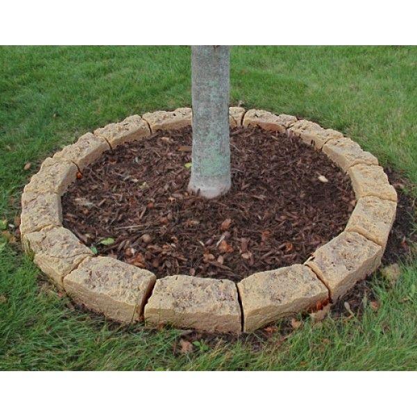 Dekorra faux stone tree mulch ring edging kit front for Faux brick edging
