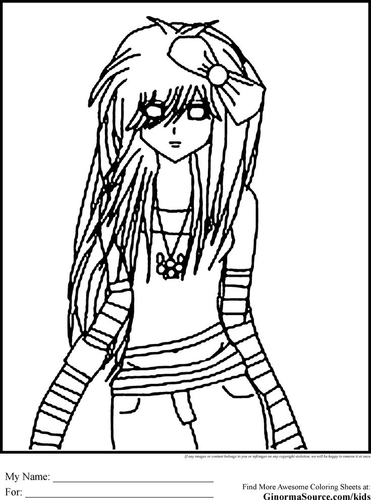 emo bear coloring pages | Emo Coloring Pages 3 | Coloring Pages | Pinterest | Emo ...