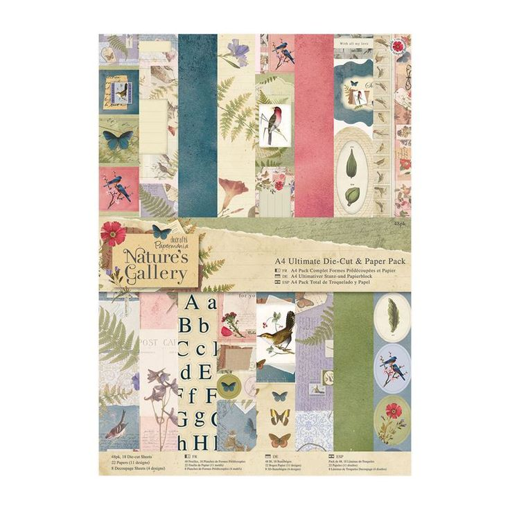 A4 Ultimate Die-cut & Paper Pack (48pk) - Nature's Gallery | docrafts.com