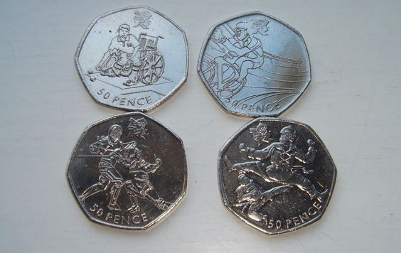 50p Fifty pence Olympic coins x 4 Boccia Cycling Fencing Taekwondo 2011 £7.25 or Best Offer Ebay Uk Item No 263040485224