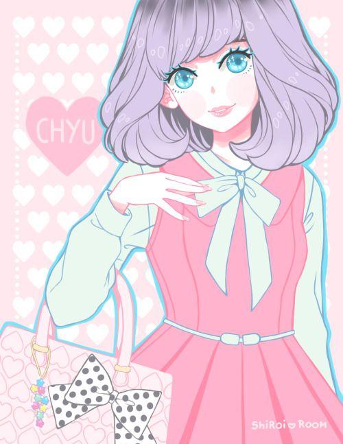 Shiroi Room Cute girl illustration