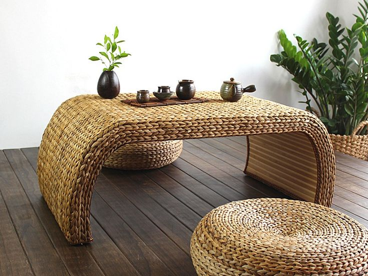 Rattan Coffee Table With Unique Design. Part 77