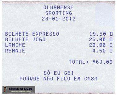Olhanense - Sporting - factura - 23.01.2012