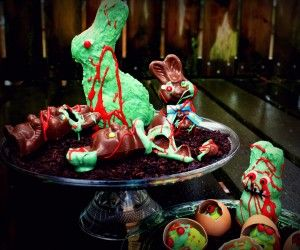 HOWTO make zombie chocolate bunnies and undead eggs for Easter: Zombies Chocolates, Zombies Bunnies, Easter Bunnies, Chocolates Zombies, Teen Parties, Easter Eggs, Easter Bunny, Chocolates Bunnies, Zombies Easter