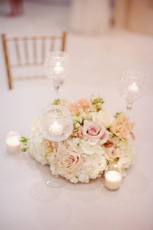 blush beige ivory floral arrangement wedding by Savage Garden out of Atlanta, GA