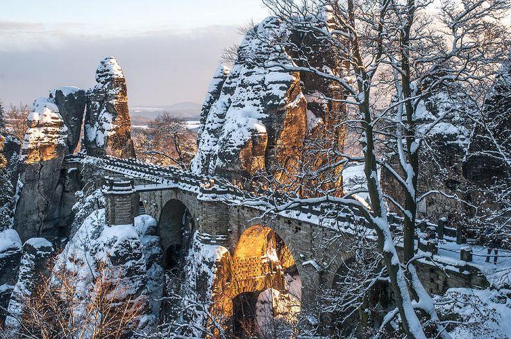 Bastei. Saxon Switzerland by Jenny Rainbow