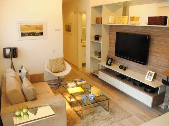Salas pequenas de apartamento