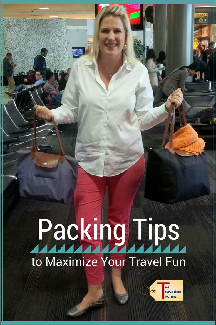 Suggestions on how to be more efficient when packing for a trip so that you maximize your fun! via @2travelingtxns #packingtips #packinglight #traveltips #howtopacklight #carryontravel