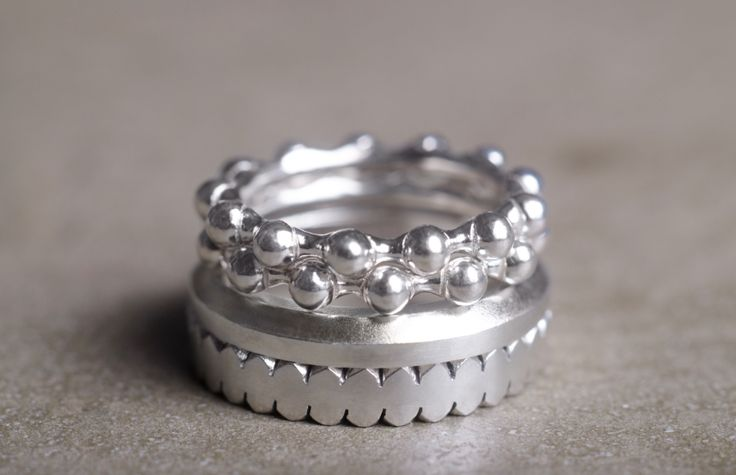 ANDRONIKE rings in sterling silver.