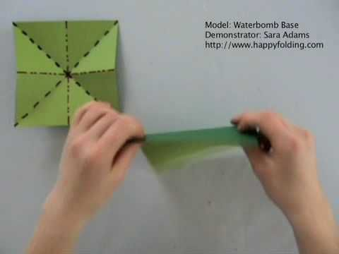 Waterbomb Base: Instructions | Happy Folding