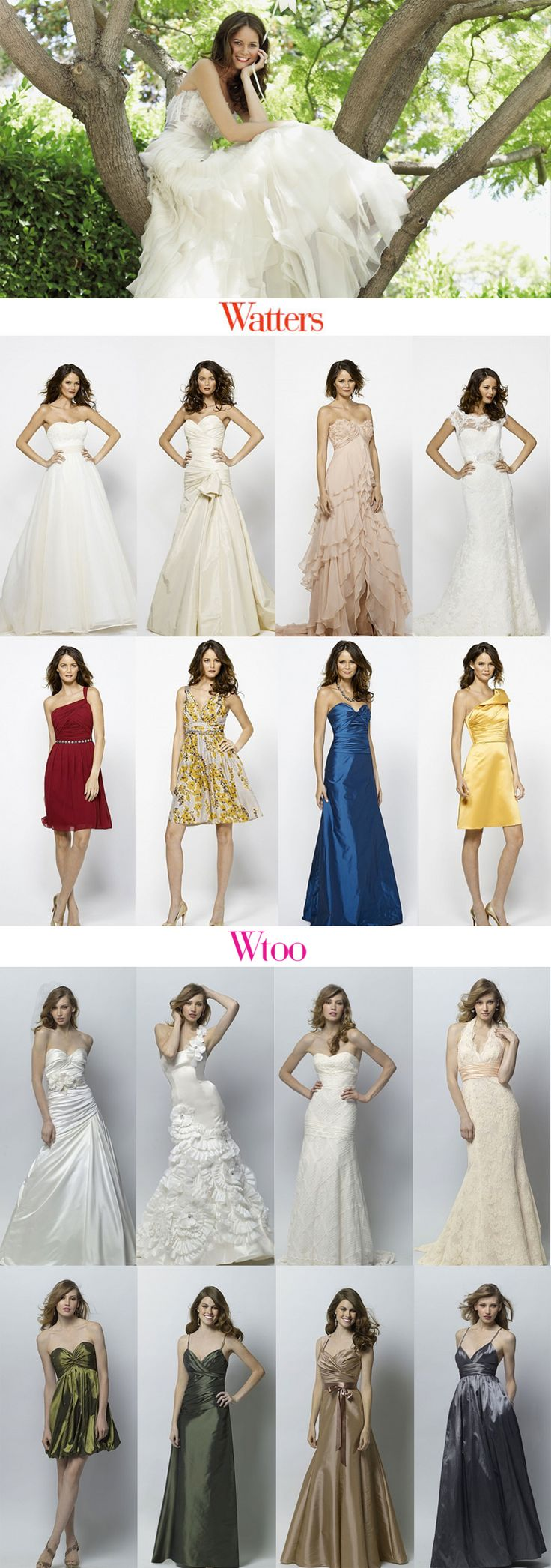 Watters Spring 2012 collection. #wedding #weddingdress #fashion