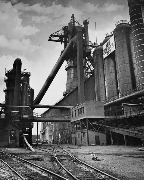 Photograph Of The Blast Furnace At Republic Steel 1940 I