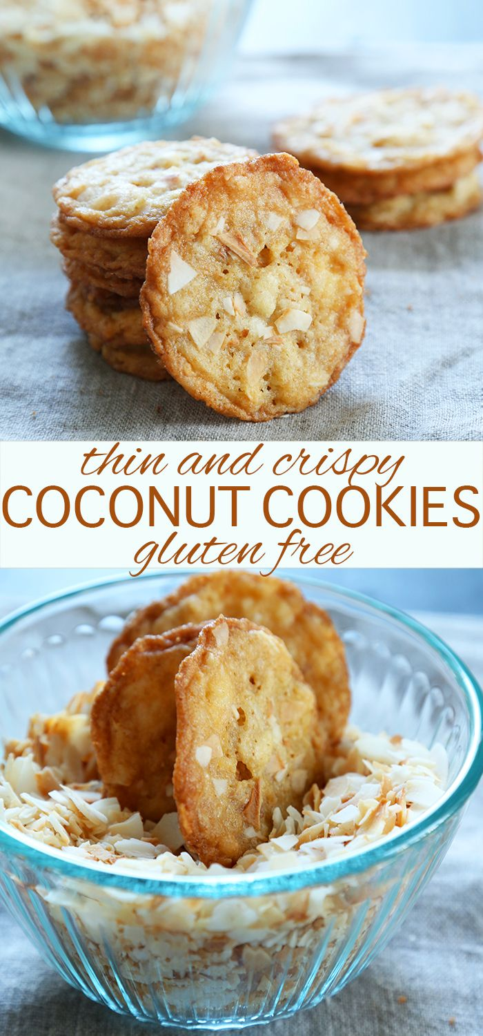 Thin & Crispy Gluten Free Coconut Cookies-- these delicious and decadent cookies are a healthier alternative to other desserts.