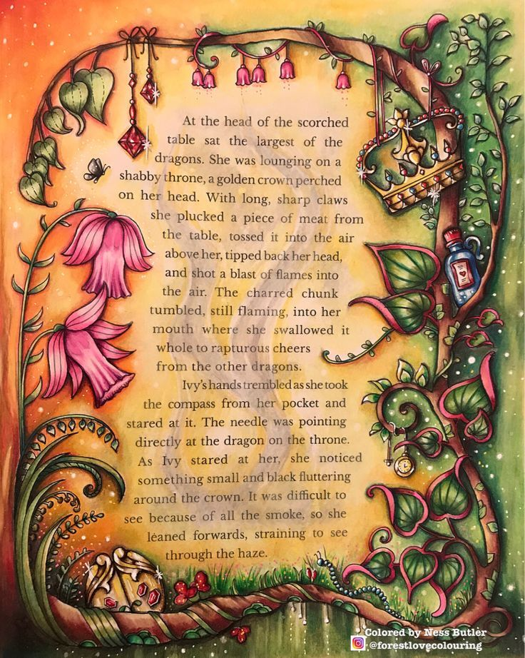 Johanna Basford Ivy And The Inky Butterfly Ness Butler Coloring