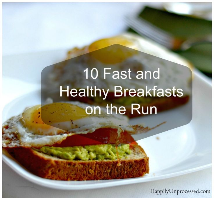 how to run in the morning breakfast