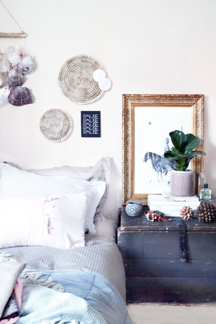 Nordic Industrial Rustic Bedroom Bed from http://www.klisjehjemmet.no   #nordic #interior #interiordesign #bedroom #bed #rustic #industrial #diy