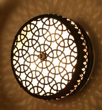 Cylinder Small Ottoman Style Brass Wall Lamp mediterranean wall sconces