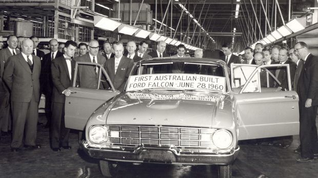 The first Ford Falcon rolled off the Broadmeadows line in June 1960.