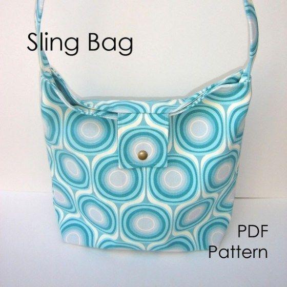 Sling Bag Sewing Pattern by Deidre Wicks
