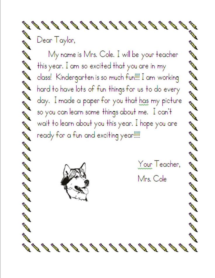 Image Result For Kindergarten Welcome Letters  Welcome Letters