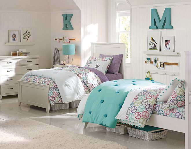 Peace Sign Bed Sheets & Hampton Funky Peace Bedroom | PBteen