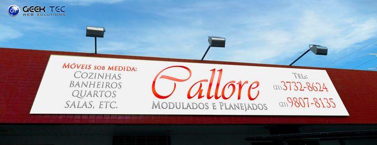 Banner / Adesivo em PVC na fachada na CALLORE.
