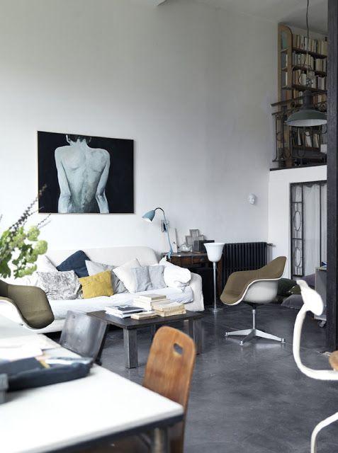 my scandinavian home: Parisian artist's home in a former button factory