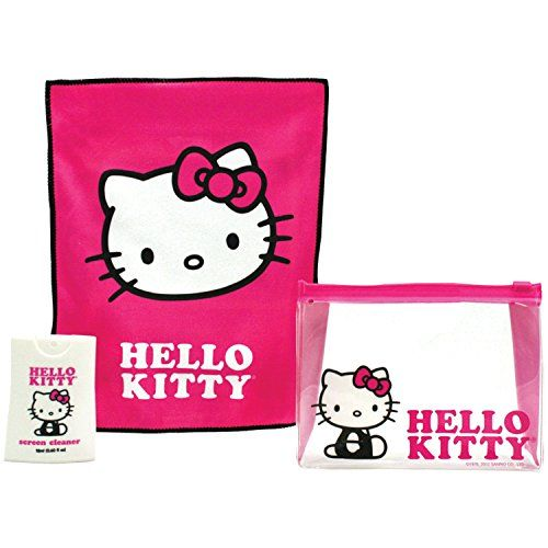 #onsale Keep screens in pristine condition with the #Hello #Kitty 150-ml Screen Cleaner with Cloth & Brush. The cleaner easily removes dust, smudges, makeup and f...