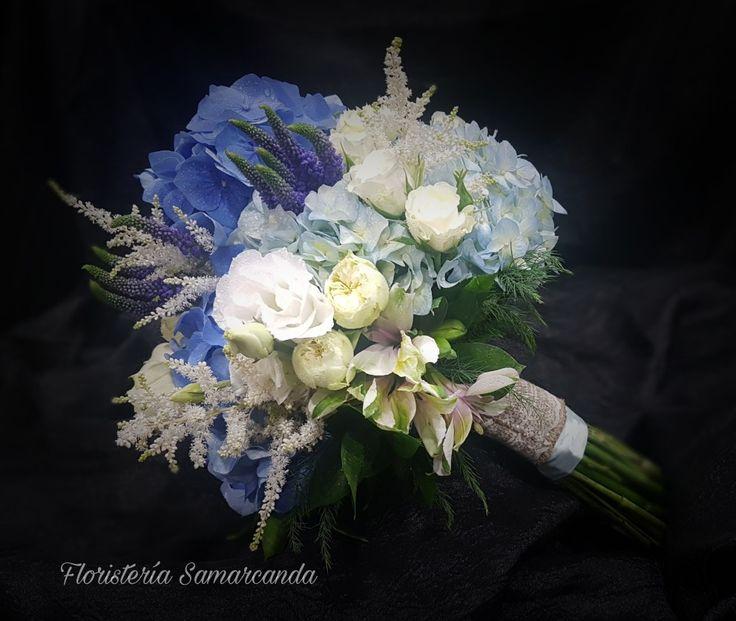 #RamoDeNovia #Hortensia  #Azul #FloristeriaSamarcanda #Bouquet #Boda #Bride