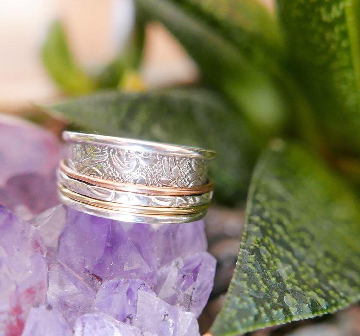 Silver Spinner Ring Spinner Rings Meditation Rings Silver Spinner Rings