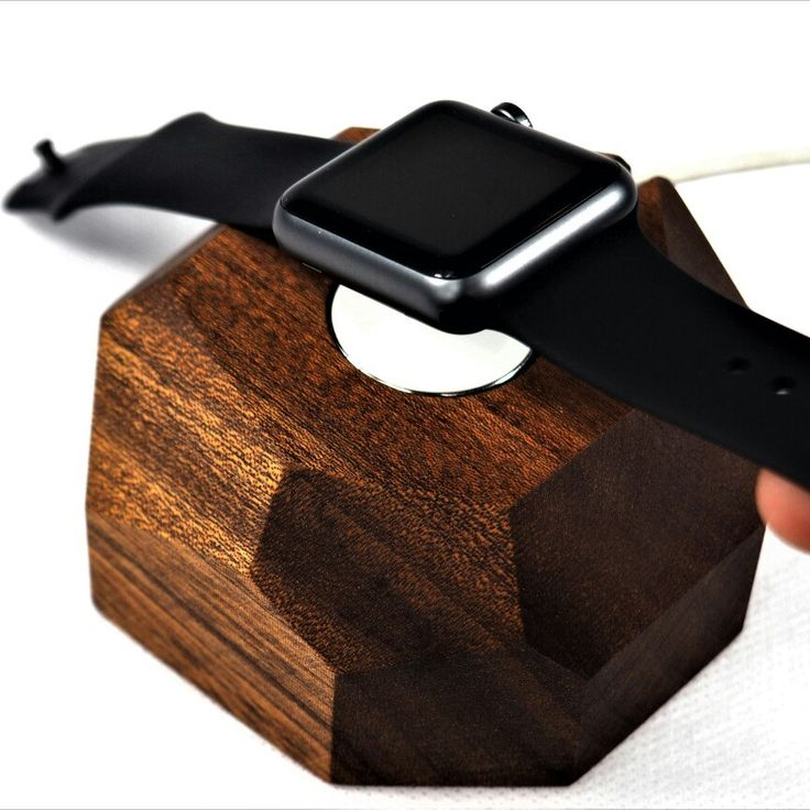 Special edition apple watch dock. Made in African Sapele wood