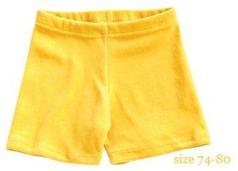 super short bébé en velours jaune mundo melocotón | shop pour enfants Le Petit Zèbre