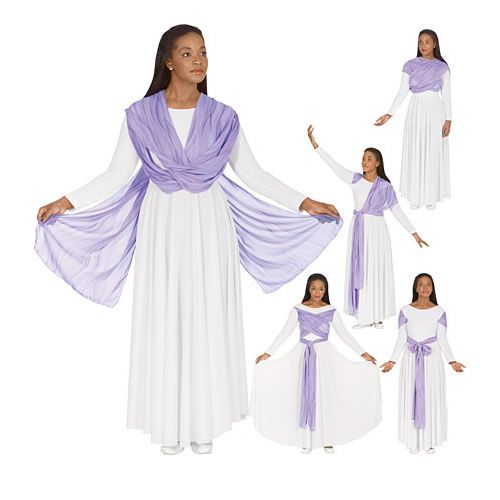 Basic praise dance garments. For a free praise dance workbook email Angie at awilliam4000@gmail.com