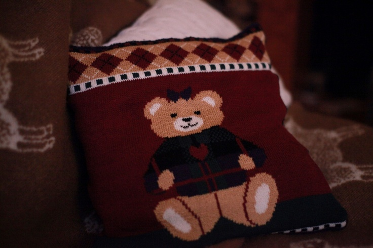 My favorite childhood sweater became to a pillow: Favorite Childhood, Childhood Sweaters