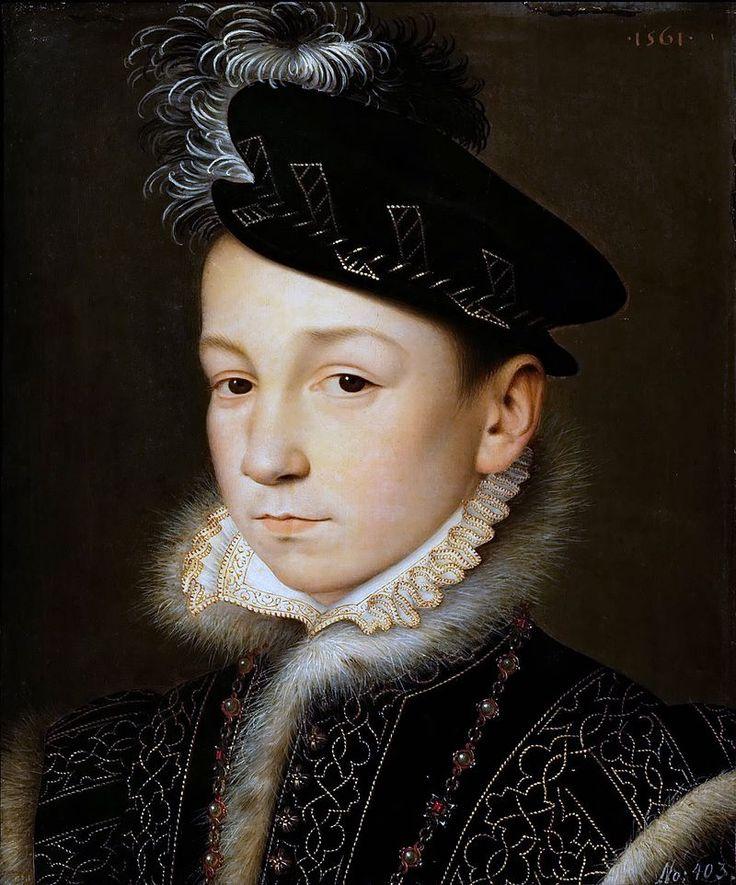 https://ru.wikipedia.org/wiki/Клуэ,_Франсуа. Портрет Карла IX, 1561 г.