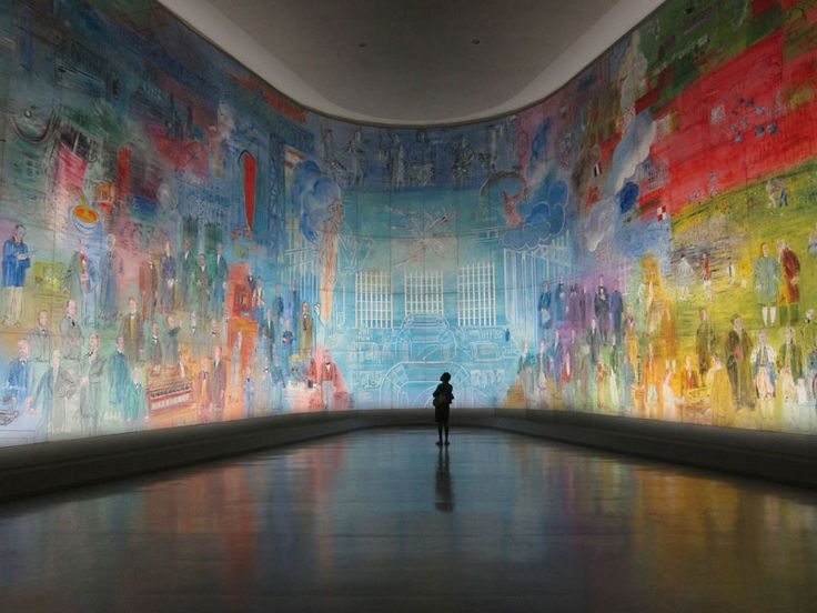 Dufy's huge mural 'La Fée Electricité' or 'The Electricity Fairy', 1937 at the Musée d'Art Moderne in Paris, said to be the largest painting in the world ('of independent support')…