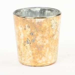 Burnt Gold Votive Candle Holders
