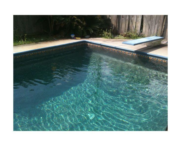 Carmichael in ground swimming pool vinyl liner gold pebble for Liner piscine turquoise