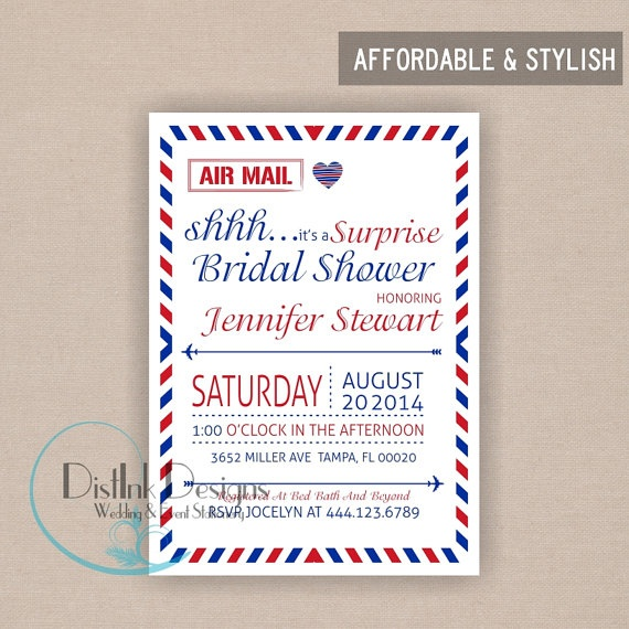 Mail Postcard Bridal Shower Invitation or Baby by