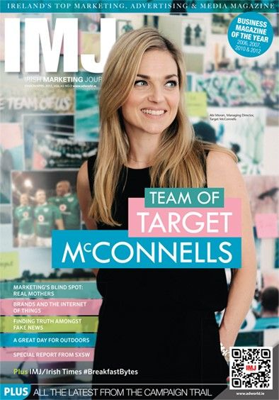 This month's issue of your IMJ looks at trust in a world of fake news. The Irish Times/IMJ Breakfast Bytes talks about the business of health and Sheena Horgan examines a blind-spot when it comes to real mothers. John McGee talks to Abi Moran about the team at Target McConnells. Good campaign management systems, Naming rights for stadia and much more are all covered along with the latest campaigns, moves and nights out.