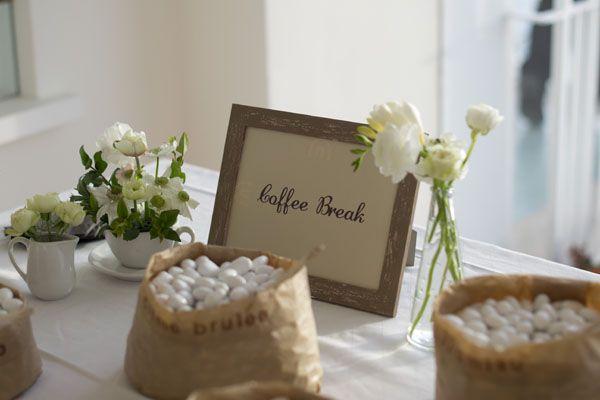 Un matrimonio a tema caffè
