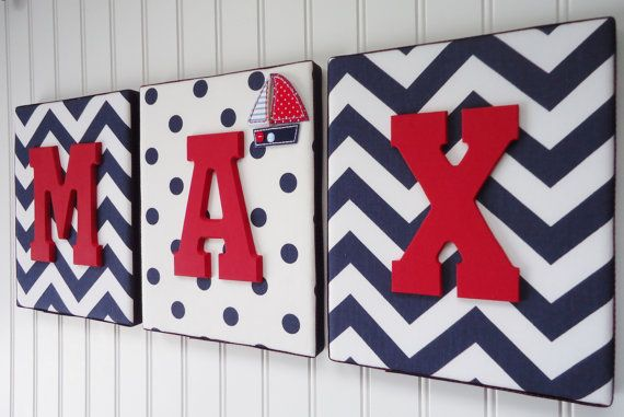 Nursery Letters Nursery Decor Upholstered Letters by fabbdesigns, $20.99